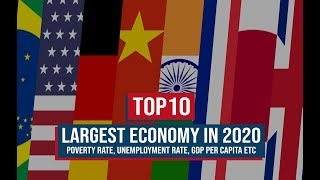 TOP 10 LARGEST ECONOMIES 2020 (Nominal GDP and GDP PPP) || Check Where India Stand in 2020