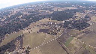 Мой первый полет на параплане. Эстония. #парапланеризм #эстония