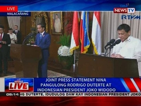 Joint press statement nina Pangulong Rodrigo Duterte at Indonesian President Joko Widodo