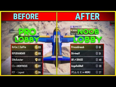 how-to-get-noob-lobby-every-time-in-pubg-mobile-|-get-20+-kills-in-every-match-(-in-hindi-)