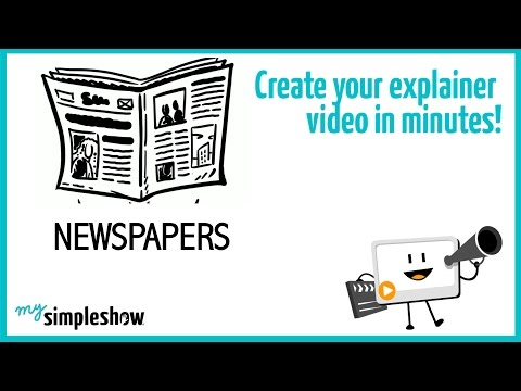 Find out what were the origins of newspapers in this short explainer video.                                 Create your own video with mysimpleshow.com