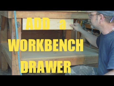 Add A Drawer To Your Work Bench 1 2 3 Youtube