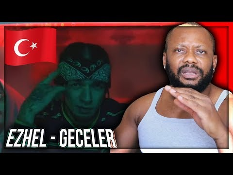 Ezhel - Geceler  2018 TURKISH RAP MUSIC REACTION!!!