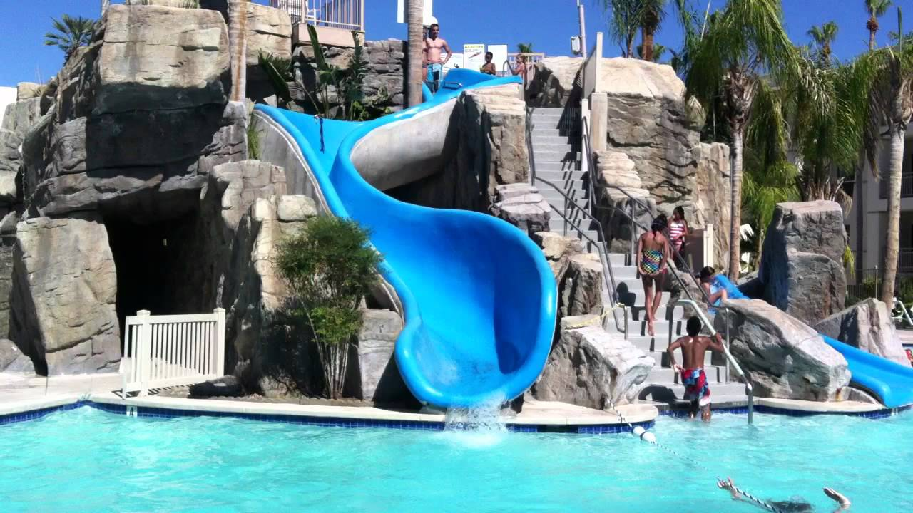 Palm Canyon Resort And Spa Water Slide Youtube