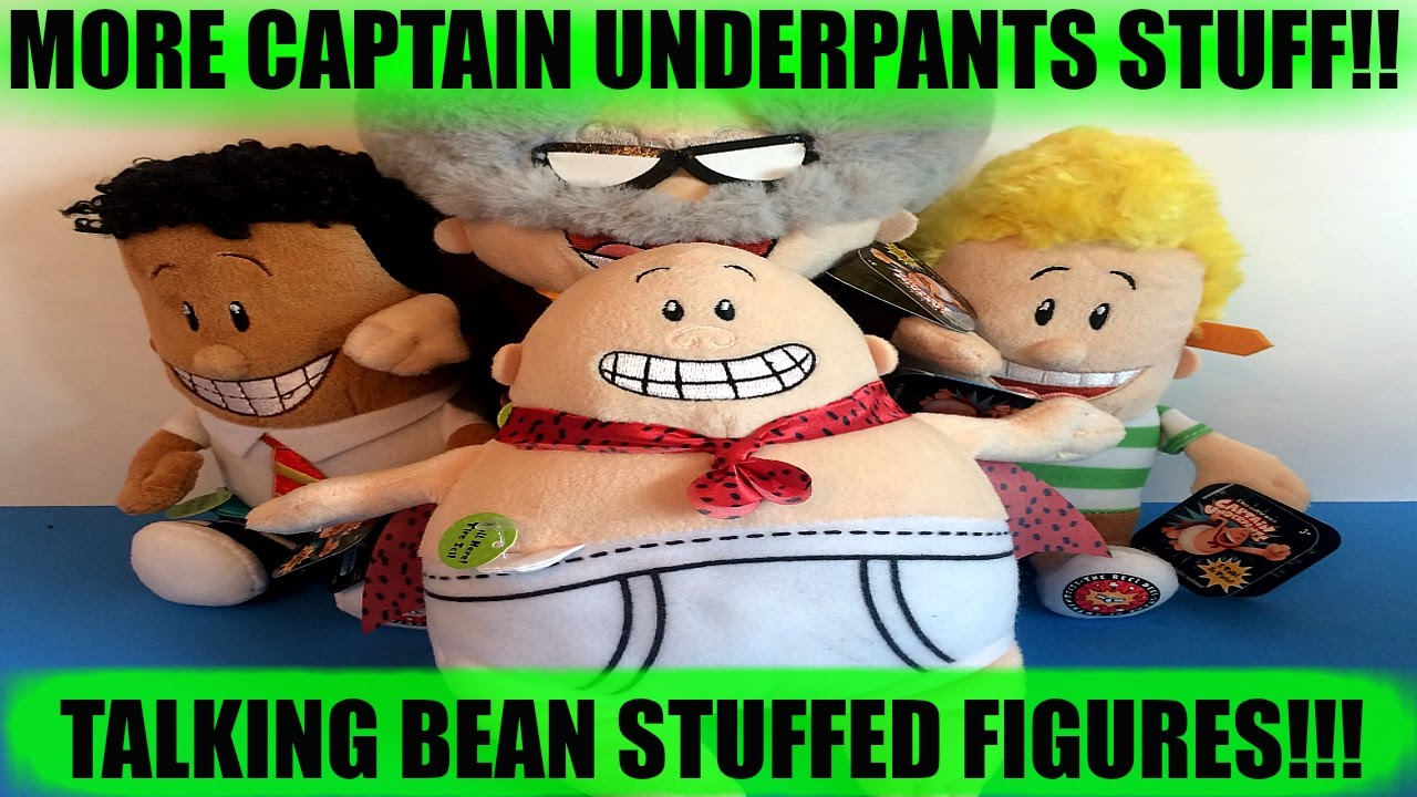 NEW CAPTAIN UNDERPANTS THE MOVIE TOYS! New Talking Bean Stuffed Figures from Toys R Us!