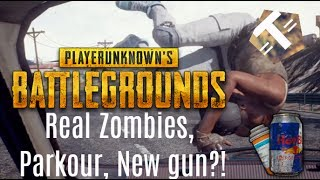 Parkour, REAL Zombies AND A NEW GUN! INSANE PUBG UPDATE!!