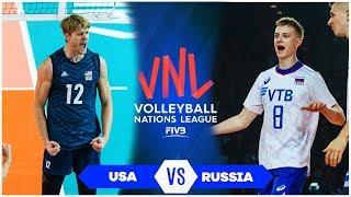 USA vs Russia | Highlights | Fnal Round Men's VNL 2019 (HD)