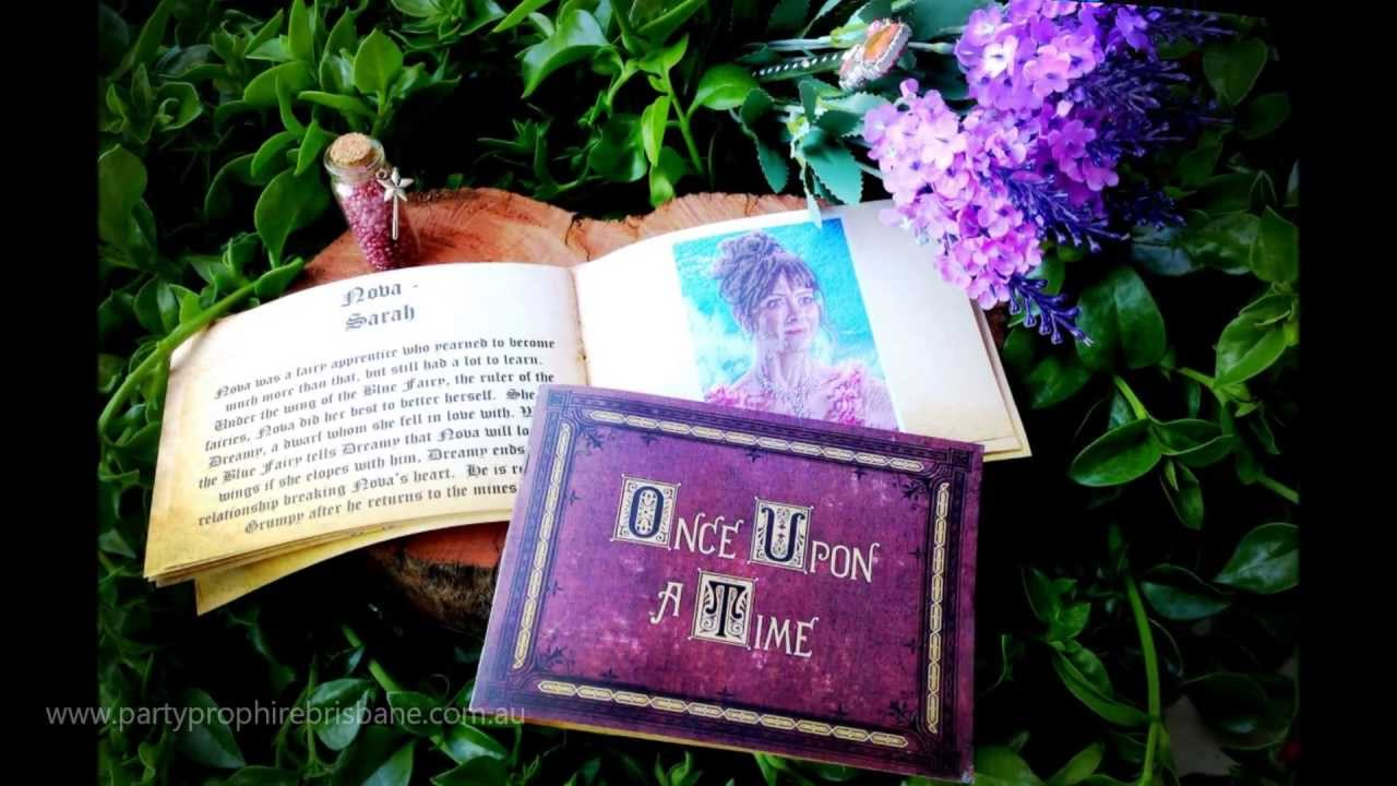 Once Upon a Time Invitations by Party Prop Hire - YouTube