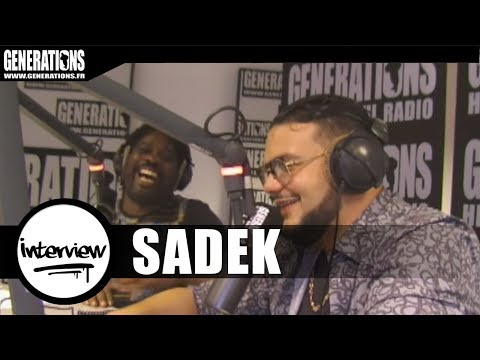 sadek -  Interview Vulgaire Violent et Ravi d'Etre La (Live des Studios de Generations)