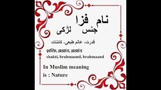 Fizza Name Meaning in Urdu - Islamic baby names by Safar e Jannat Tv