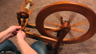 "My first hand spun yarn using My Ashford Spinning Wheel, AKA my ""AHA"" Moment"""