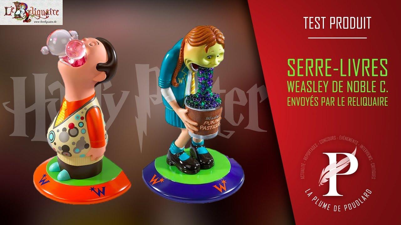 Test produit : Le figurines serre-livres Weasley Shop de Noble Collection envoyées par le Reliquaire
