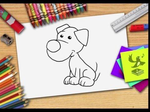 Kleurplaten Circushond.Hoe Teken Je Een Hond Zelf Een Hond Leren Tekenen Youtube