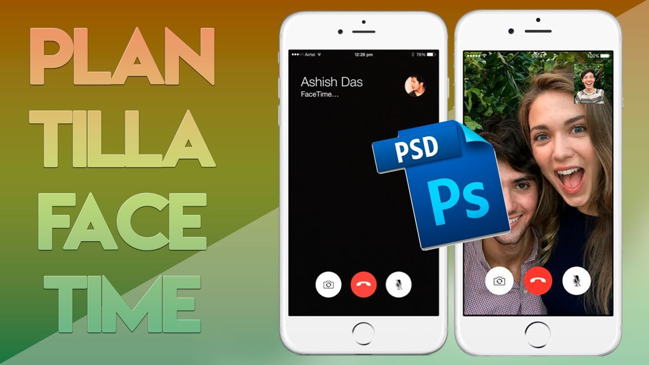 psd template facetime call