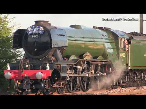 Four Trains, Four Generations Near York 23/04/2017