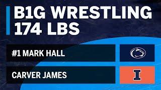 174 LBS: #1 Mark Hall (Penn State) vs. Carver James (Illinois)   Big Ten Wrestling