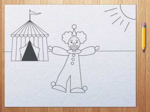 Clown Drawings For Kids