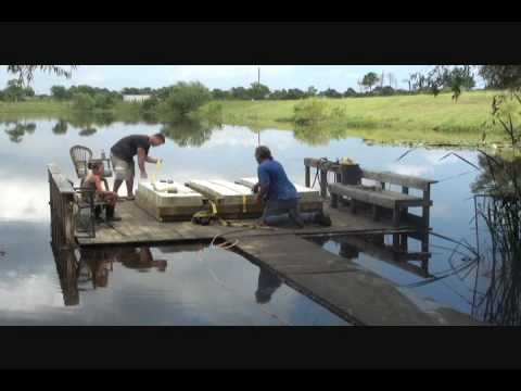 Time Lapse Floating Dock Build Youtube