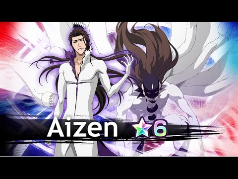 Aizen (Hogyoku) 6★ gameplay on Byakuya Raid [Bleach Brave ...