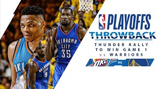 Thunder Rally For Surprise Win At Golden State In 2016 WCF Game 1 | Full Classic Game - 5.16.16