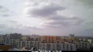 Бушующие облака и живое солнце, Закат, Завораживающий вид, Питерское небо на высоте птичьего полёта