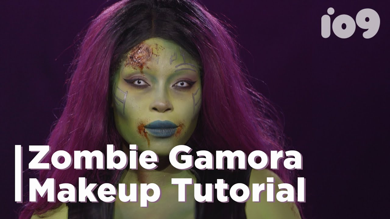 The Coolest, Creepiest Zombie Gamora Makeup Tutorial (HeirofGlee A.K.A Phillicia Deanell)