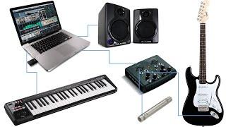 ما هي مستلزمات استوديو الصوت المنزلي
