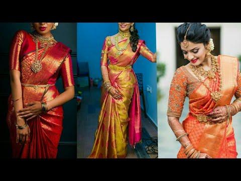 South Indian Bridal Saree Designs Latest Bridal Saree