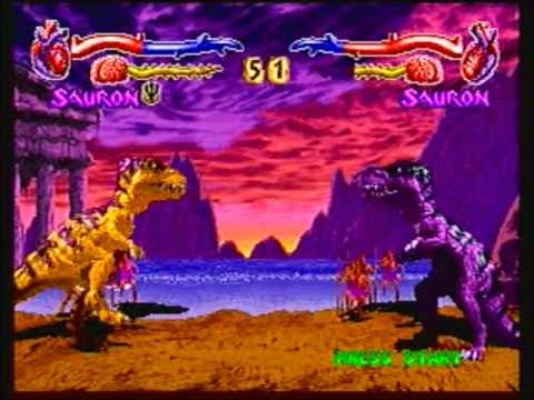Primal Rage (Sega Saturn) Sauron Run - YouTube