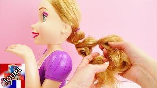 Faire des coiffures soi-même français – Démonstration nouvelle tête à coiffer de Raiponce