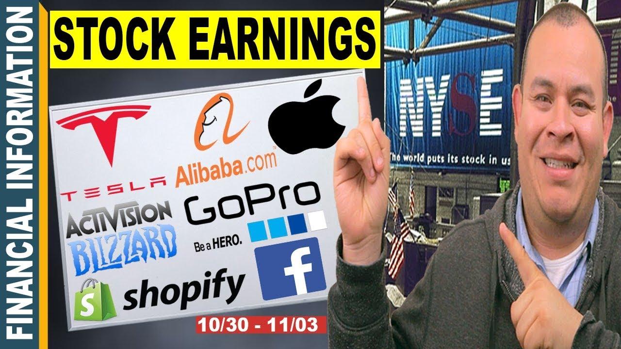 October Stocks Earnings📊| Tesla, Apple, Shopify, GoPro ...