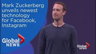 Facebook CEO Mark Zuckerberg unveils latest technology at F8 developers conference