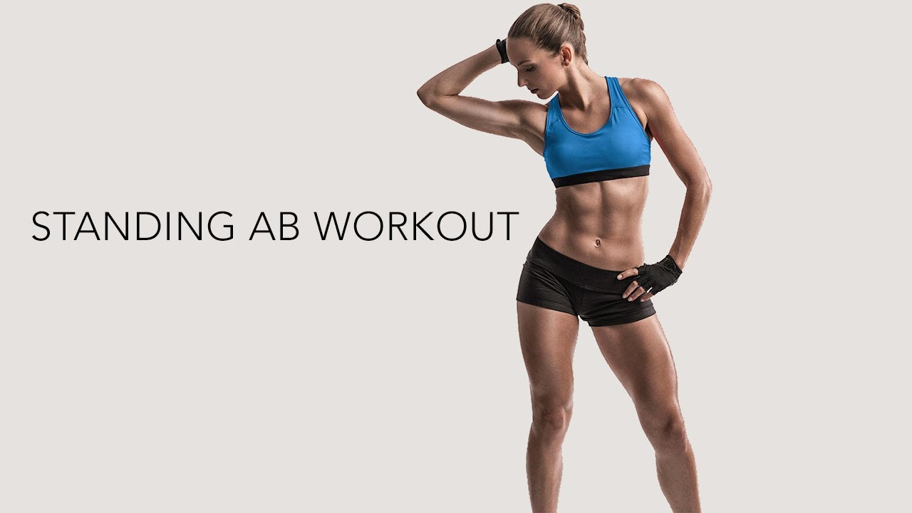 Standing Abs Workout (4 Most Effective Moves!)