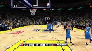 NBA 2K13: FAN NIGHT NBA TV Gameplay Video GSW vs OKC