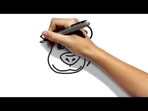 Как нарисовать медведя из мультфильма Маша и Медведь