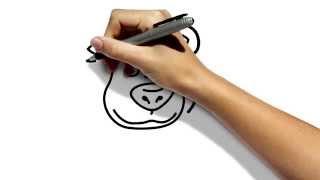 Как нарисовать медведя из мультфильма