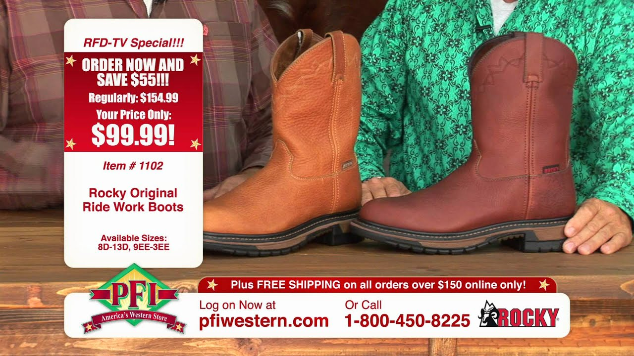 Fall Tent Sale 2011 Rocky Work Boots - YouTube