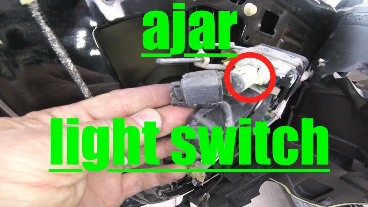 IT'S ALWAYS ON!! Driver Door Ajar Light SWITCH Ford Explorer √ Fix it Angel  YouTube