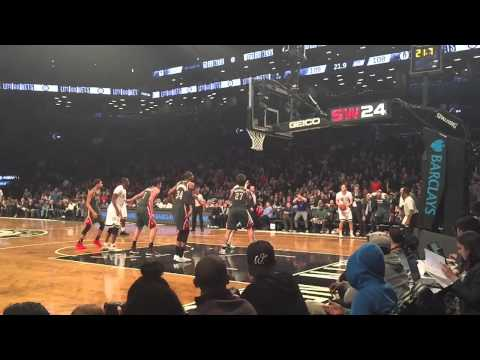 Going to the new Brooklyn Nets stadium to see them beat The Bucks in the third overtime!