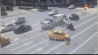 ДТП с участием трех авто на Ленинском проспекте в Москве сегодня 25.06.17