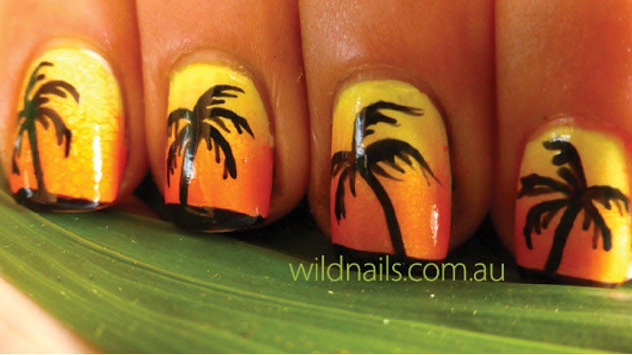 Tropical Island Summer Nails Tutorial - YouTube