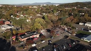 UNCUT: Drone shows aftermath of explosion that leveled Harrisonburg strip mall