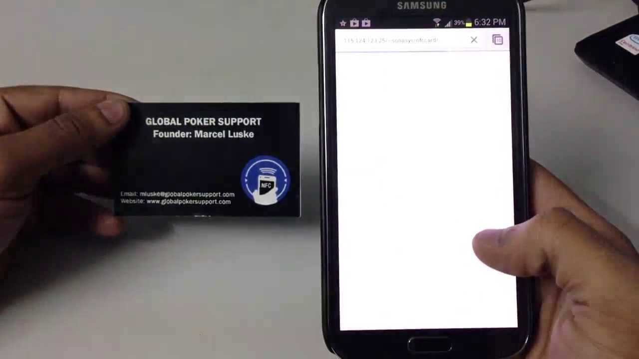 Nfc Business Card With Android Mobile Microdunes