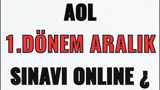 Açık Lise ARALIK SINAVI Online Açıklaması!! 1.Dönem!