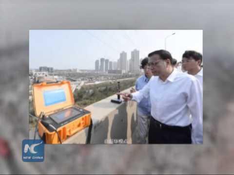 Chinese Premier Li Keqiang visits blasts site