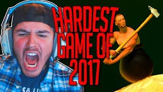 HARDEST GAME OF 2017 | Getting Over It with Bennett Foddy - Part 1