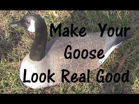 Repaint old Canada goose decoy shells