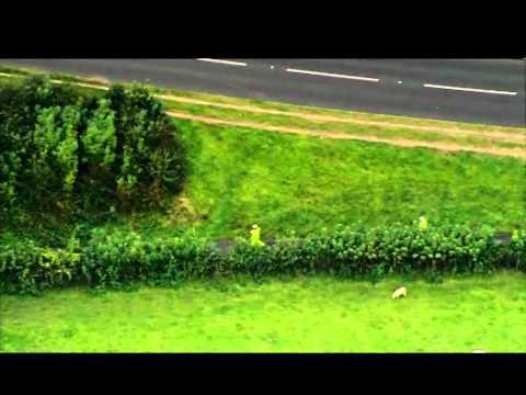 Aerial footage of Machynlleth