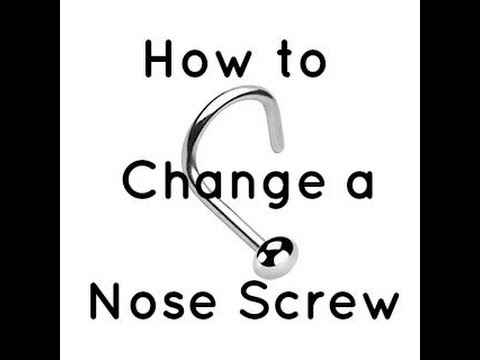 How To Change A Nose Screw Nostril Piercing Youtube