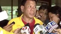 Mayor Rody Duterte after visiting Leyte